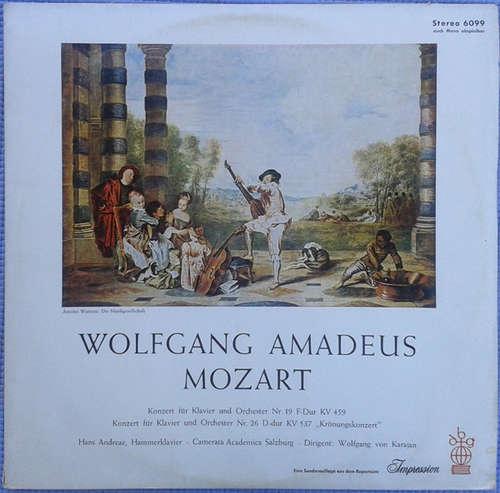 Cover zu Mozart*, Hans Andreae, Camerata Academica Salzburg, Wolfgang von Karajan - Konzert Für Klavier Und Orchester Nr. 19  & Nr. 26  ,,Krönungskonzert'' (LP) Schallplatten Ankauf