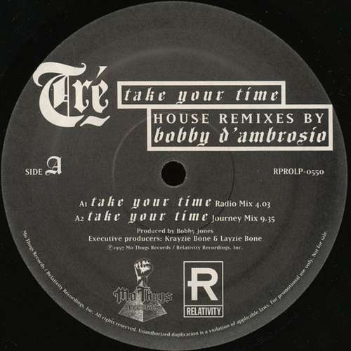 Cover Tré - Take Your Time (House Remixes By Bobby D'Ambrosio) (12, Promo) Schallplatten Ankauf