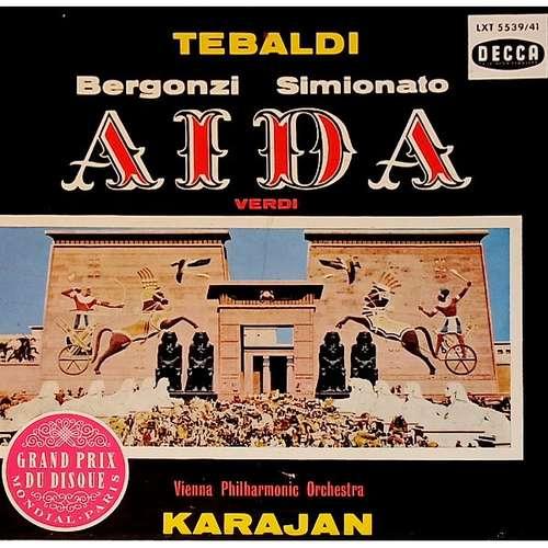 Bild Verdi*, Tebaldi*, Bergonzi*, MacNeil*, Simionato*, Karajan*, Vienna Philharmonic Orchestra* - Aida (3xLP, Mono, ora + Box) Schallplatten Ankauf