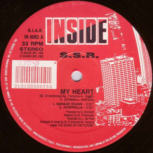 Bild S.S.R. - My Heart (12) Schallplatten Ankauf