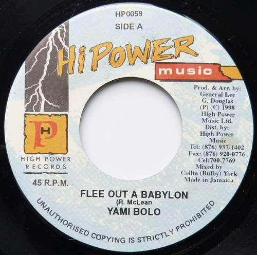 Bild Yami Bolo - Flee Out A Babylon (7) Schallplatten Ankauf