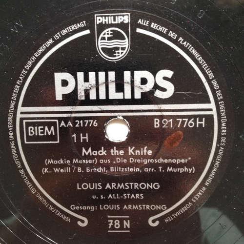 Bild Louis Armstrong U.S. All-Stars* - Mack The Knife / Back O'Town Blues (Shellac, 10) Schallplatten Ankauf