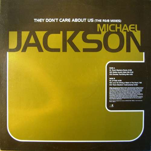 Cover Michael Jackson - They Don't Care About Us (The R&B Mixes) (12, Promo) Schallplatten Ankauf