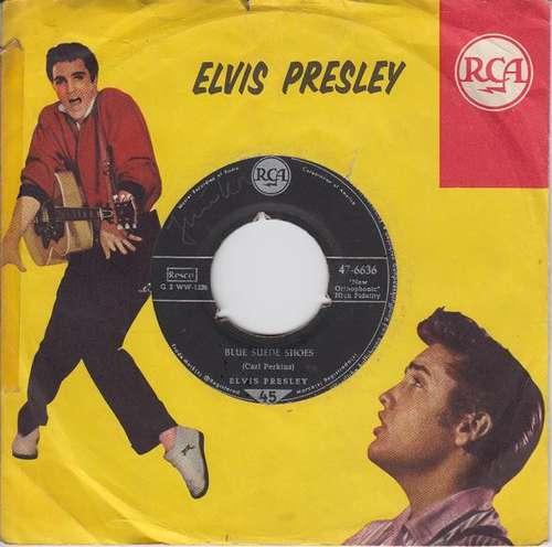 Cover Elvis Presley - Blue Suede Shoes / Tutti Frutti (7, Single) Schallplatten Ankauf