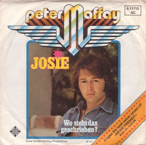 Bild Peter Maffay - Josie (7, Single) Schallplatten Ankauf