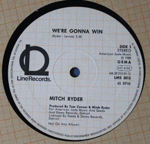 Bild Mitch Ryder - We're Gonna Win (12) Schallplatten Ankauf