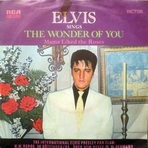 Cover Elvis Presley - The Wonder Of You (7, Single) Schallplatten Ankauf