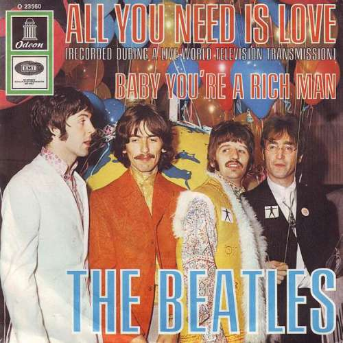 Cover Beatles, The - All You Need Is Love / Baby You're A Rich Man (7, Single, Med) Schallplatten Ankauf
