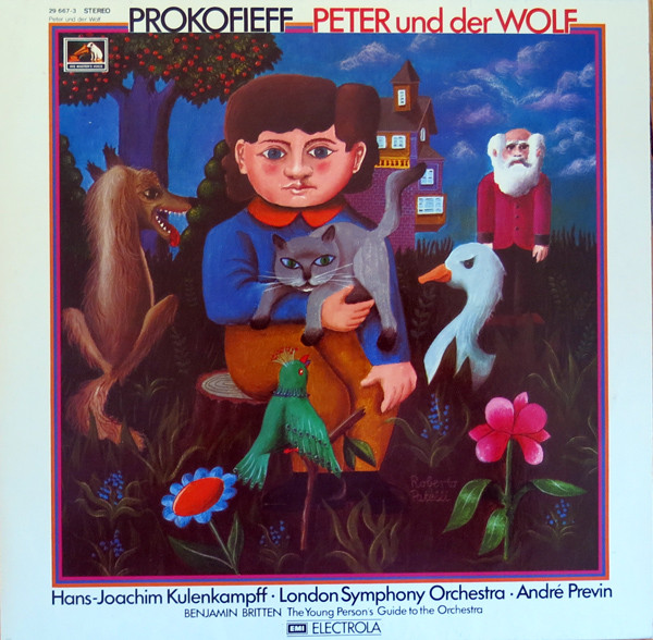 Cover Prokofieff* / Benjamin Britten -  Hans-Joachim Kulenkampff, London Symphony Orchestra*, André Previn - Peter Und Der Wolf / The Young Person's Guide To The Orchestra (LP, Album, Club) Schallplatten Ankauf