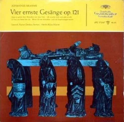 Cover zu Johannes Brahms, Dietrich Fischer-Dieskau & Hertha Klust - Vier Ernste Gesänge Op.121 (10, Mono) Schallplatten Ankauf