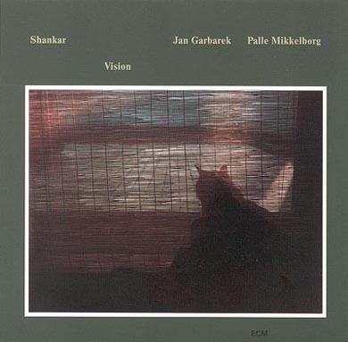 Cover Shankar, Jan Garbarek, Palle Mikkelborg - Vision (LP, Album) Schallplatten Ankauf