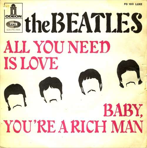 Cover Beatles, The - All You Need Is Love / Baby You're A Rich Man (7, Single) Schallplatten Ankauf