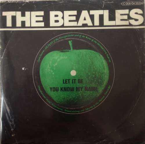 Cover The Beatles - Let It Be (7, Single, Mono, RE) Schallplatten Ankauf