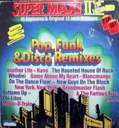 Cover Various - Super Maxi II (Pop, Funk & Disco Remixes) (2xLP, Comp, S/Edition, Yel) Schallplatten Ankauf