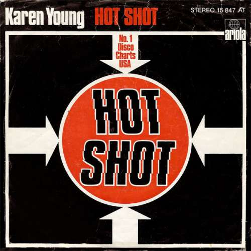 Cover zu Karen Young - Hot Shot (7, Single) Schallplatten Ankauf