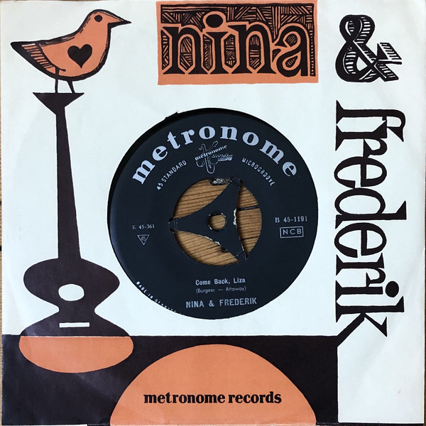 Cover Nina & Frederik - Happy Days / Come Back, Liza (7, Single) Schallplatten Ankauf