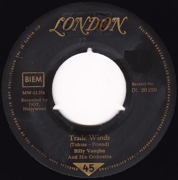 Cover Billy Vaughn And His Orchestra - Trade Winds  / Hawaiian War Chant (7, Single) Schallplatten Ankauf