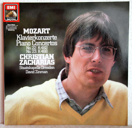 Bild Wolfgang Amadeus Mozart - Christian Zacharias, Staatskapelle Dresden, David Zinman - Klavierkonzerte No. 22 Kv 482 & No. 23 Kv 488 (LP, Club) Schallplatten Ankauf