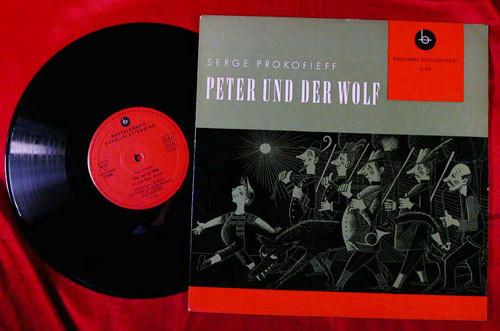 Bild Serge Prokofieff* - Peter Und Der Wolf (10, Album, Red) Schallplatten Ankauf