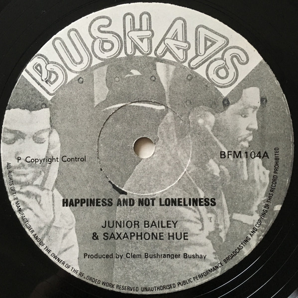 Cover Junior Bailey & Saxaphone Hue* - Happiness And Not Loneliness (12) Schallplatten Ankauf