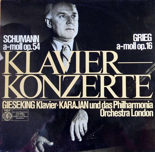 Bild Schumann*, Grieg* - Gieseking* - Karajan*, Philharmonia Orchestra London* - Klavierkonzerte  (LP) Schallplatten Ankauf