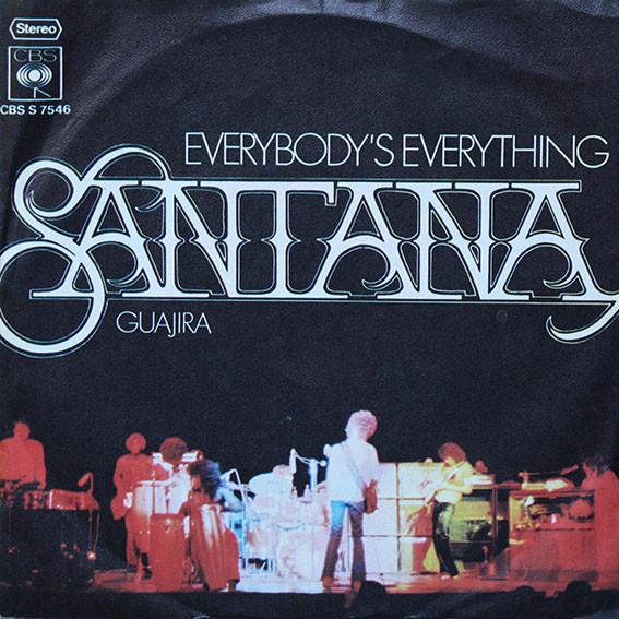 Cover Santana - Everybody's Everything / Guajira (7, Single) Schallplatten Ankauf