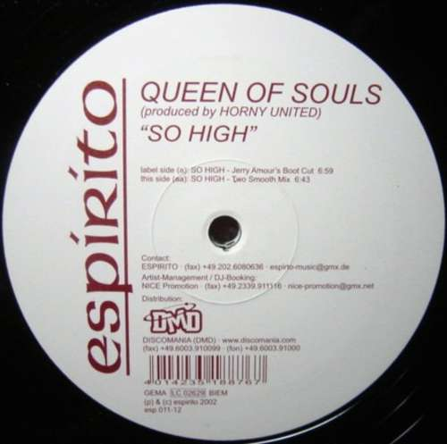Cover Queen Of Souls - So High (12) Schallplatten Ankauf
