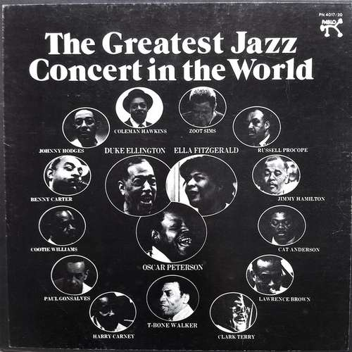 Cover Various - The Greatest Jazz Concert In The World (Box + 4xLP, Album) Schallplatten Ankauf