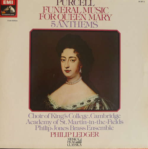 Cover Purcell* / Philip Ledger, Choir Of King's College, Cambridge*, Philip Jones Brass Ensemble, The Academy Of St. Martin-in-the-Fields - Funeral Music For Queen Mary - 5 Anthems (LP, Club) Schallplatten Ankauf