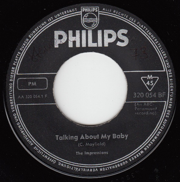 Bild The Impressions / The Tams - Talking About My Baby / What Kind Of Fool (7, Single) Schallplatten Ankauf