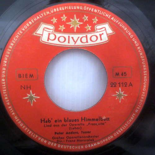 Cover zu Peter Anders (2) - Hab' Ein Blaues Himmelbett (7, Single, Mono) Schallplatten Ankauf