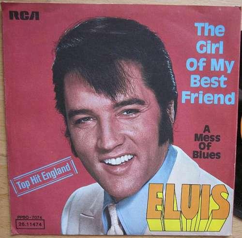 Cover Elvis Presley With The Jordanaires - The Girl Of My Best Friend (7, Single, RE) Schallplatten Ankauf