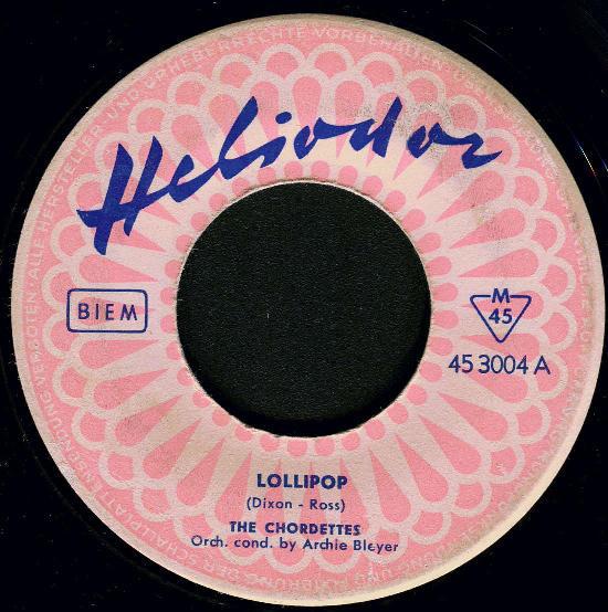 Bild The Chordettes - Lollipop (7, Single) Schallplatten Ankauf