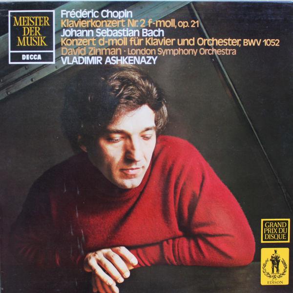 Cover Bach*, Chopin*, Vladimir Ashkenazy, David Zinman, London Symphony Orchestra* - Klavierkonzert Nr. 2 F-Moll / Konzert D-Moll Für Klavier (LP, RE) Schallplatten Ankauf