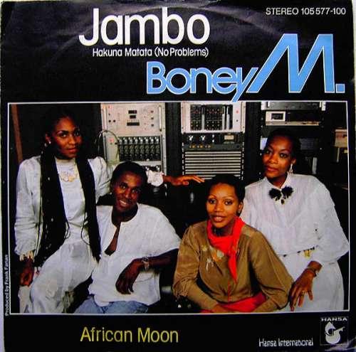 Cover Boney M. - Jambo - Hakuna Matata (No Problems) / African Moon (7, Single) Schallplatten Ankauf