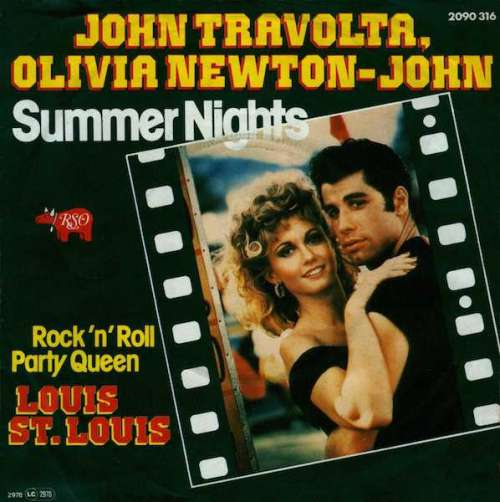 Cover John Travolta & Olivia Newton-John / Louis St. Louis - Summer Nights / Rock 'n' Roll Party Queen (7, Single) Schallplatten Ankauf