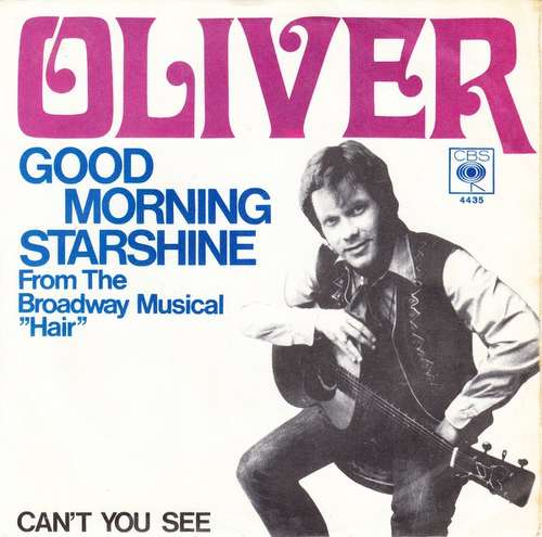 Cover Oliver (6) - Good Morning Starshine (7, Single) Schallplatten Ankauf