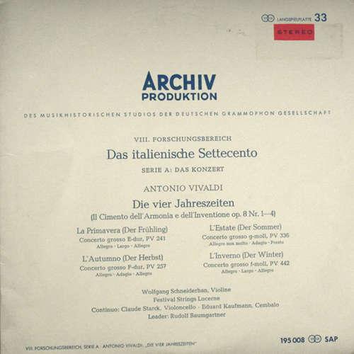Bild Antonio Vivaldi, Wolfgang Schneiderhan , Violine ‧ Festival Strings Lucerne ‧ Claude Starck , Violoncello ‧ Eduard Kaufmann , Cembalo ‧ Leader: Rudolf Baumgartner - Die Vier Jahreszeiten (Il Cimento Dell´Armonia E Dell´Inventione Op.8 Nr.1-4) (10) Schallplatten Ankauf