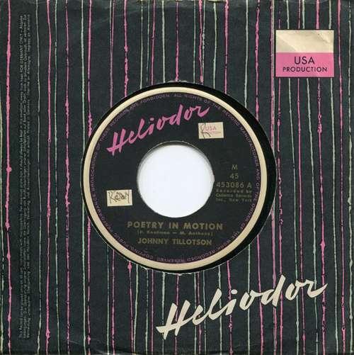 Cover Johnny Tillotson - Poetry In Motion (7, Single) Schallplatten Ankauf