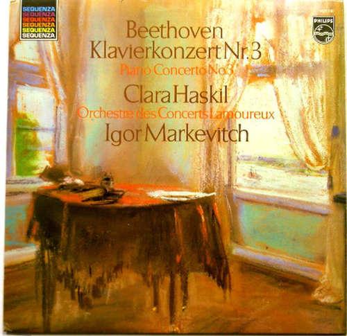 Cover zu Beethoven*, Clara Haskil, Igor Markevitch, Orchestre Des Concerts Lamoureux - Klavierkonzert Nr. 3 = Piano Concerto No. 3 (LP, RE) Schallplatten Ankauf