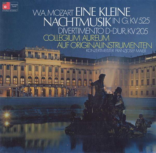 Bild Wolfgang Amadeus Mozart, Collegium Aureum - Eine Kleine Nachtmusik In G, Kv 525 / - Divertimento D-Dur Kv 205 (LP) Schallplatten Ankauf