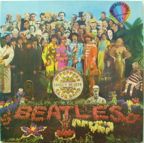 Cover Beatles, The - Sgt. Pepper's Lonely Hearts Club Band (LP, Album, Yel) Schallplatten Ankauf