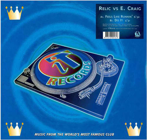 Cover zu Relic (2) vs. E. Craig* - Feels Like Runnin' (12) Schallplatten Ankauf