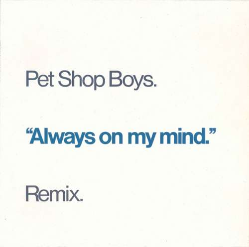 Cover Pet Shop Boys - Always On My Mind (Remix) (12) Schallplatten Ankauf