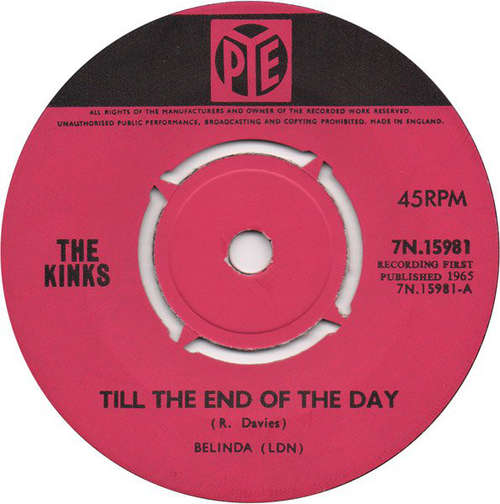 Cover The Kinks - Till The End Of The Day (7, Single, Pus) Schallplatten Ankauf