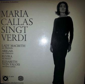 Cover zu Maria Callas - Maria Callas Singt Verdi (LP) Schallplatten Ankauf