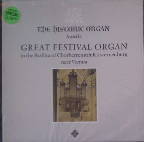 Bild Herbert Tachezi - The Historic Organ - Austria: Great Festival Organ In The Basilica Of Chorherrenstift Klosterneuburg Near Vienna (LP, Album) Schallplatten Ankauf