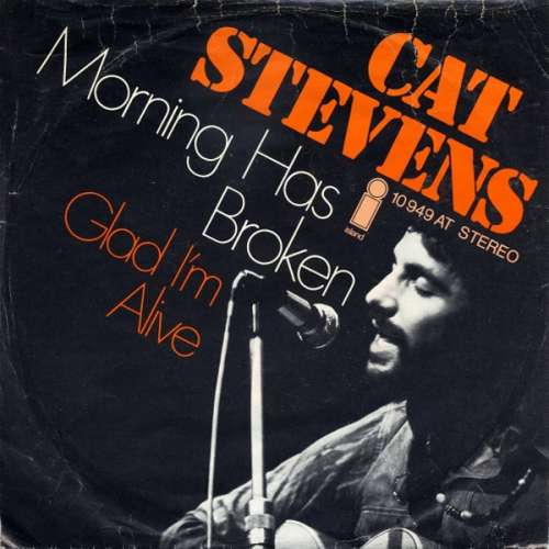 Cover Cat Stevens - Morning Has Broken / Glad I'm Alive (7, Single, RE) Schallplatten Ankauf