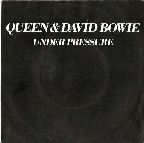 Cover Queen & David Bowie - Under Pressure (7, Single, Whi) Schallplatten Ankauf