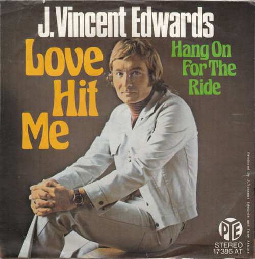 Cover J. Vincent Edwards - Love Hit Me (7, Single) Schallplatten Ankauf